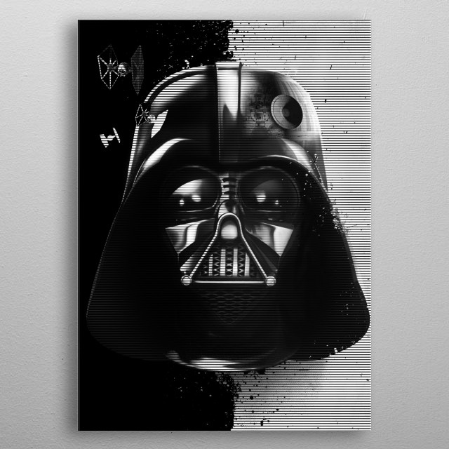Fascinating metal poster designed by Star Wars. Displate has a unique signature and hologram on the back to add authenticity to each design. metal poster