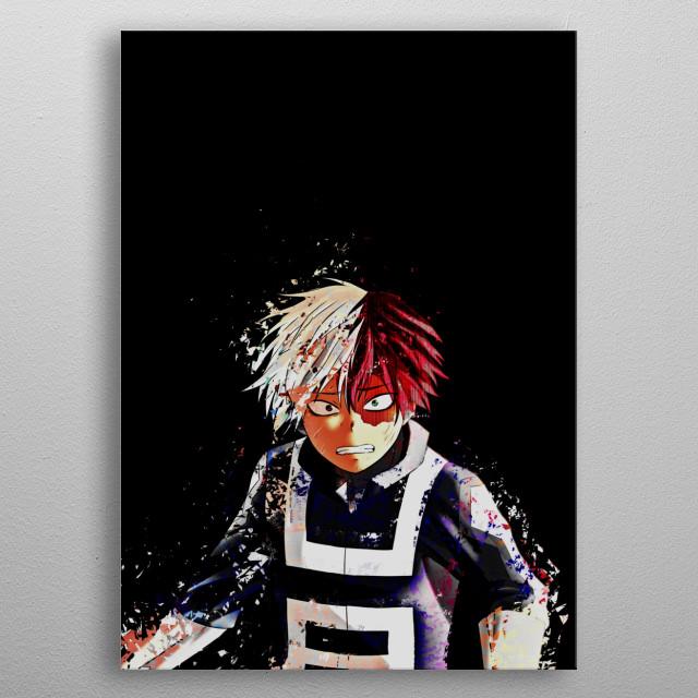 Todoroki Shoto, My Hero Academia. metal poster