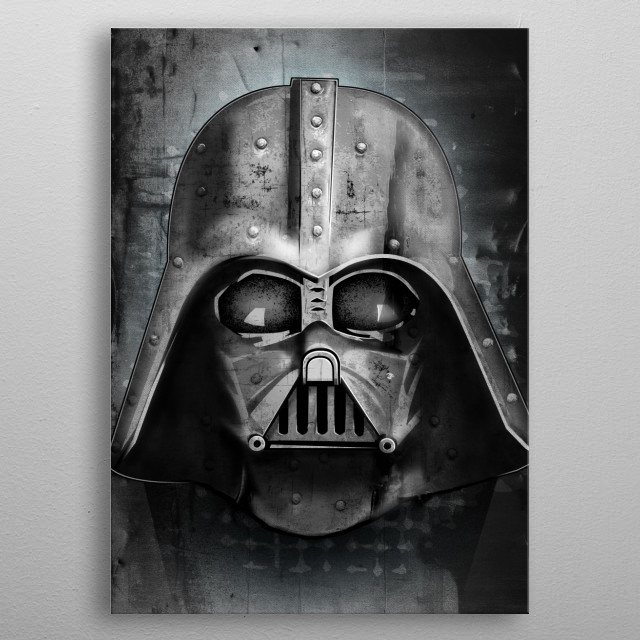 High-quality metal print from amazing Visions Of Darth Vader collection will bring unique style to your space and will show off your personality. metal poster