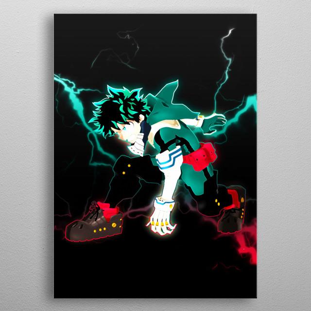 Deku Midoriya Izuku, My Hero Academia. metal poster