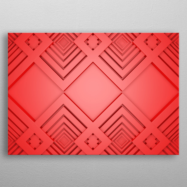 minimalistic abstraction in the form of three-dimensional design and structure of concentric circles and patterns for modern minimalist inte metal poster