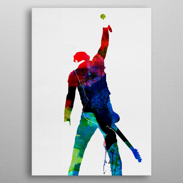 Watercolor painting of legendary music icon Bruce Springsteen. Explore our Music Legend collection. metal poster