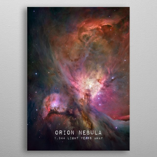 Orion Nebula photograph. Credit: NASA metal poster