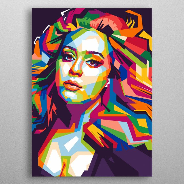 An colorful wpap illustration of Adele metal poster