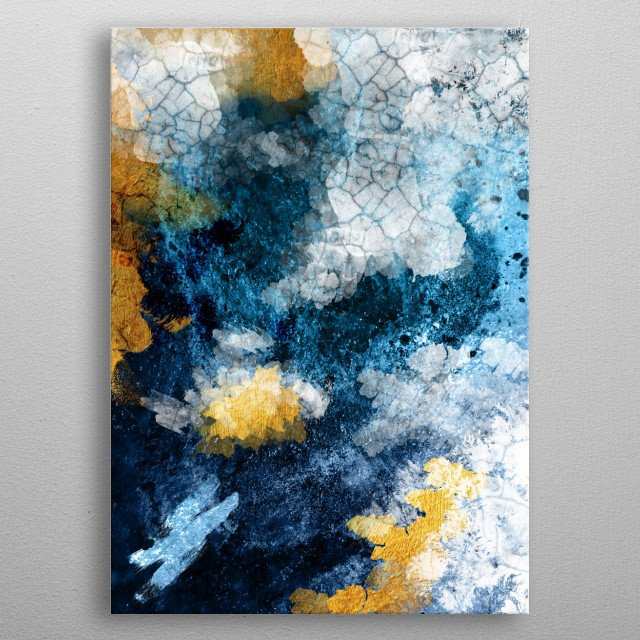 Abstract Conversation 1 By Urban Epiphany Metal Posters