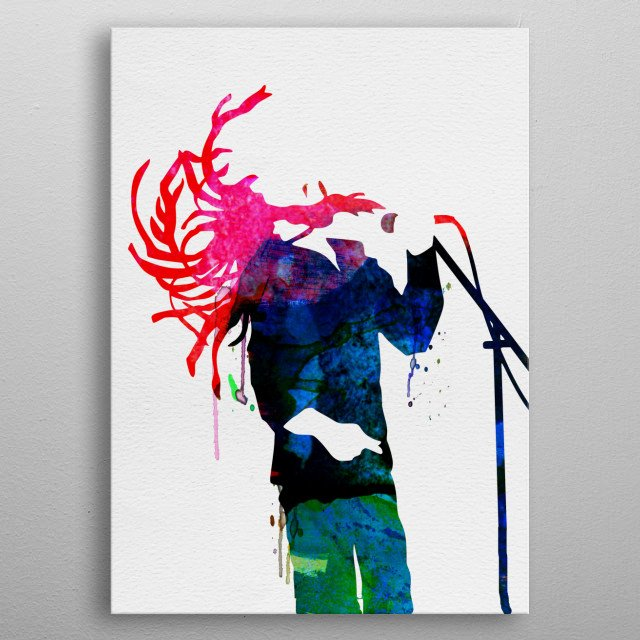 Watercolor painting of legendary music icon Bob Marley. Explore our Music Legend collection. metal poster