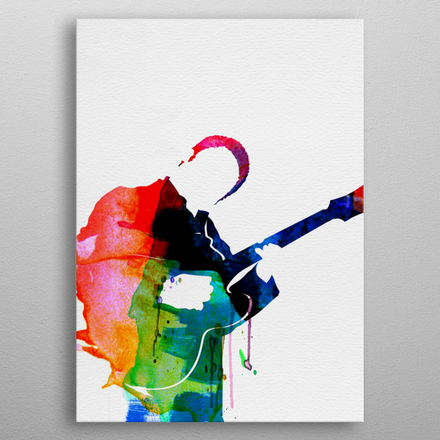 Watercolor painting of legendary music icon Johnny Ramone. Explore our Music Legend collection. metal poster