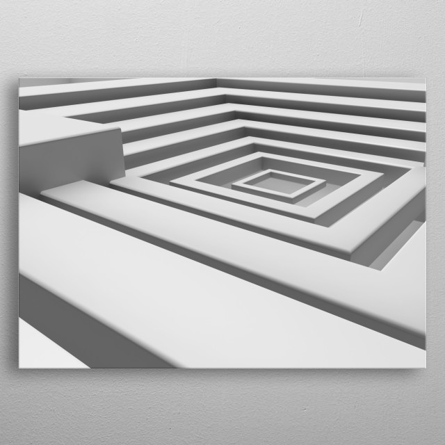 abstraction in grey tones, soothes and brings order to the thoughts and emotions perfect for the minimalistic interior metal poster
