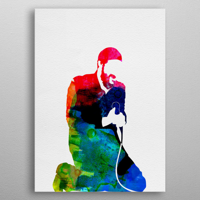 Watercolor painting of legendary music icon Marvin Gaye. Explore our Music Legend collection of displates. metal poster