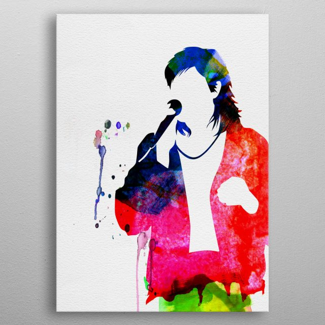 Watercolor painting of legendary music icon Duran Duran. Explore our Music Legend collection of displates. metal poster