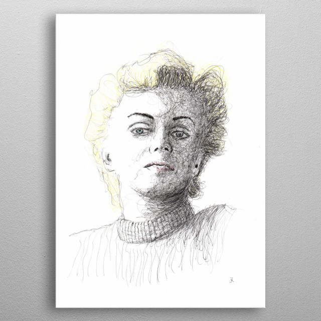 Marilyn Monroe - American film actress, sex symbol of the 1950s, singer and model. metal poster