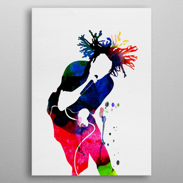 Watercolor painting of legendary music icon Rage Against the Machine. Explore our Music Legend collection of displates. metal poster