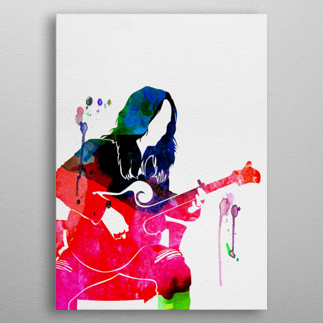 Watercolor painting of legendary music icon Melissa Etheridge. Explore our Music Legend collection of displates. metal poster