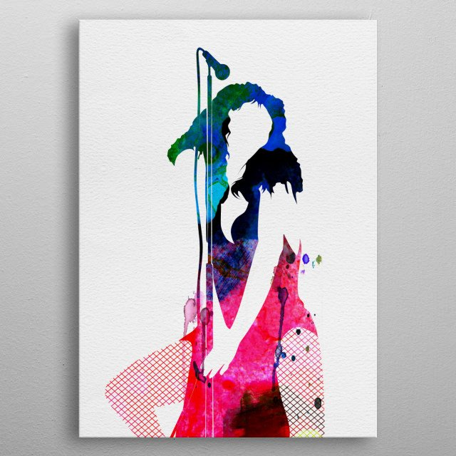 Watercolor painting of legendary music icon Donna Summer. Explore our Music Legend collection of displates. metal poster