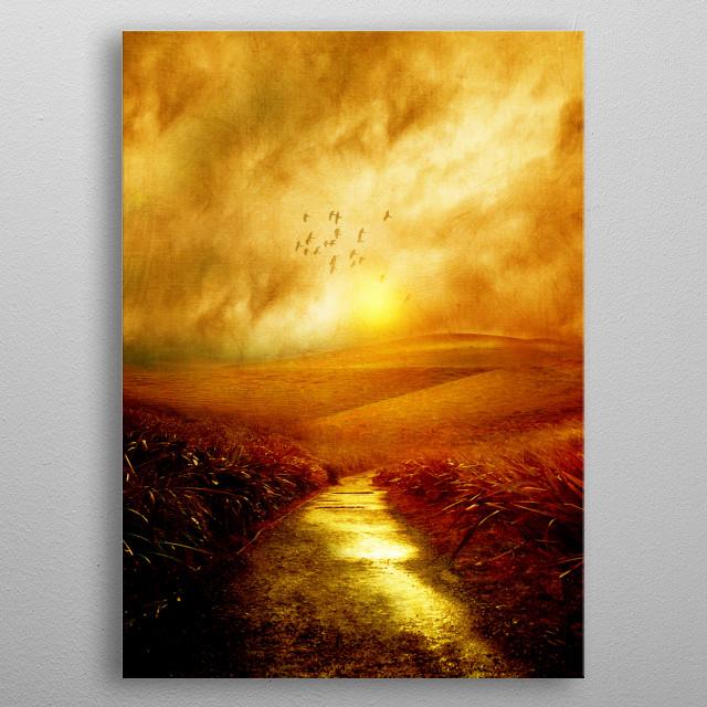 Landscape metal poster