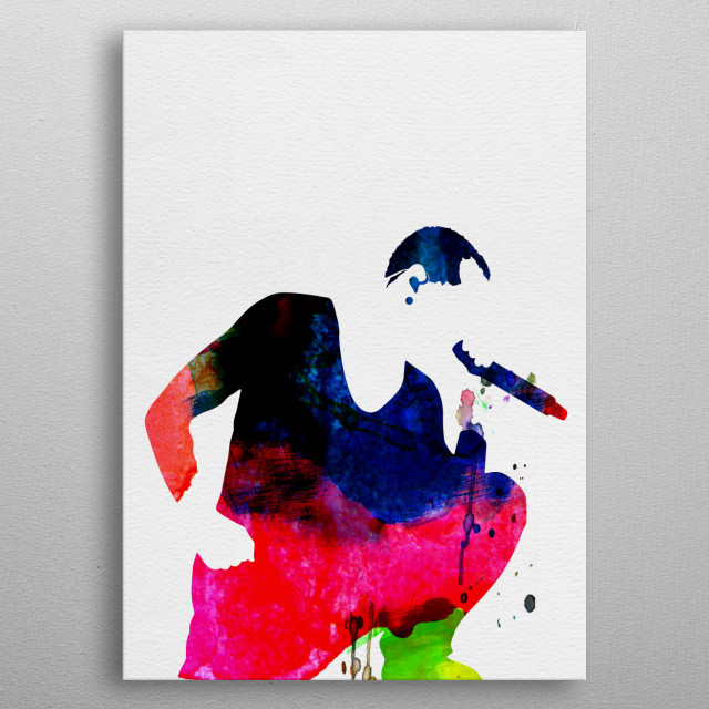 Watercolor painting of legendary music icon Linkin Park. Explore our Music Legend collection of displates. metal poster