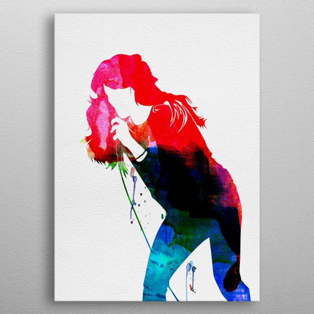 Watercolor painting of legendary music icon Faith Hill. Explore our Music Legend collection of displates. metal poster