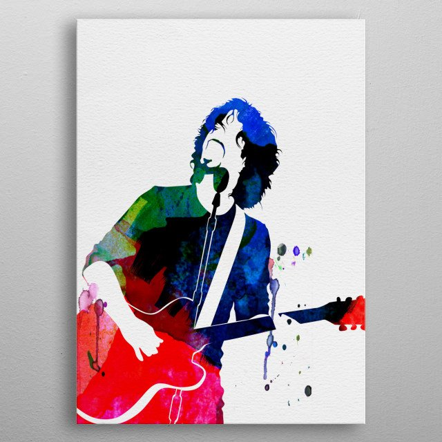 Watercolor painting of legendary music icon Soundgarden. Explore our Music Legend collection of displates. metal poster