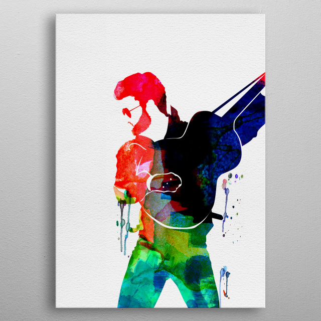 Watercolor painting of legendary music icon George Michael. Explore our Music Legend collection of displates. metal poster