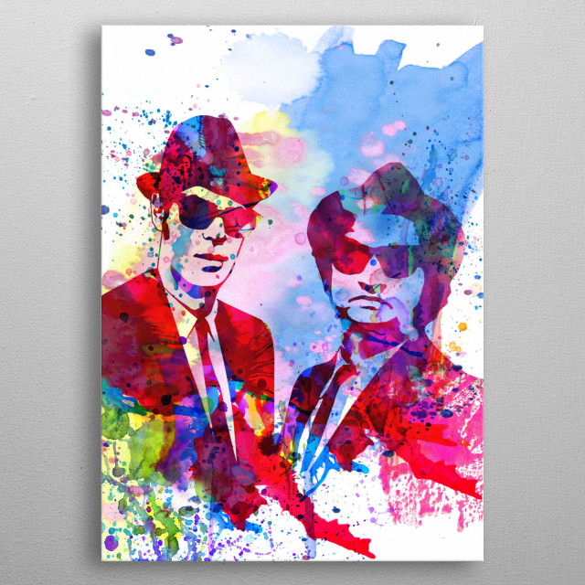 Watercolor painting celebrating our favorite character Blues Brothers. Please explore our fan art collection of movies and characters we lov metal poster