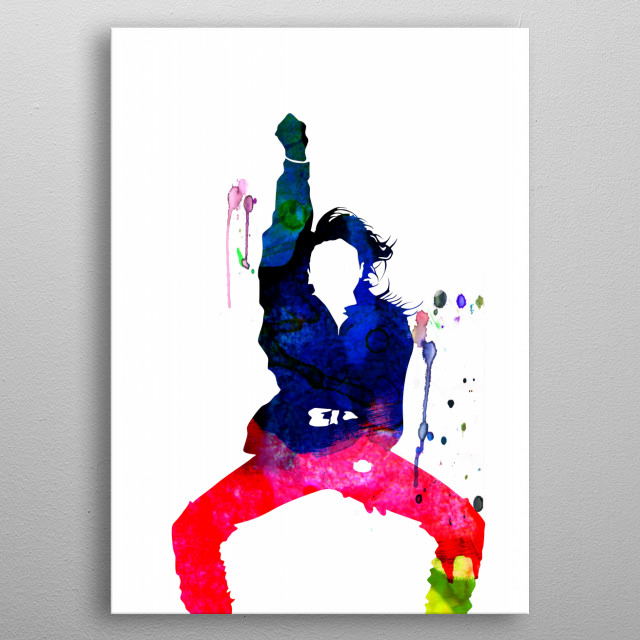 Watercolor painting of legendary music icon Janet Jackson. Explore our Music Legend collection of displates. metal poster