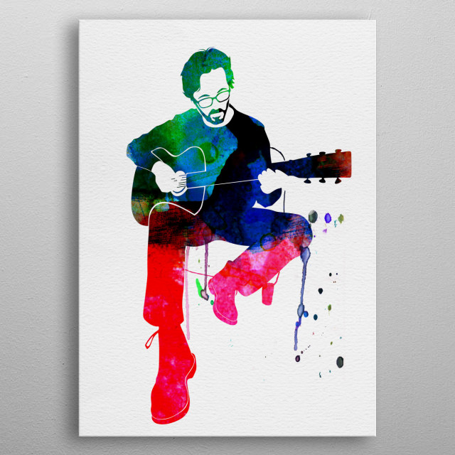Watercolor painting of legendary music icon Sly and the Eric Clapton. Explore our Music Legend collection of displates. metal poster
