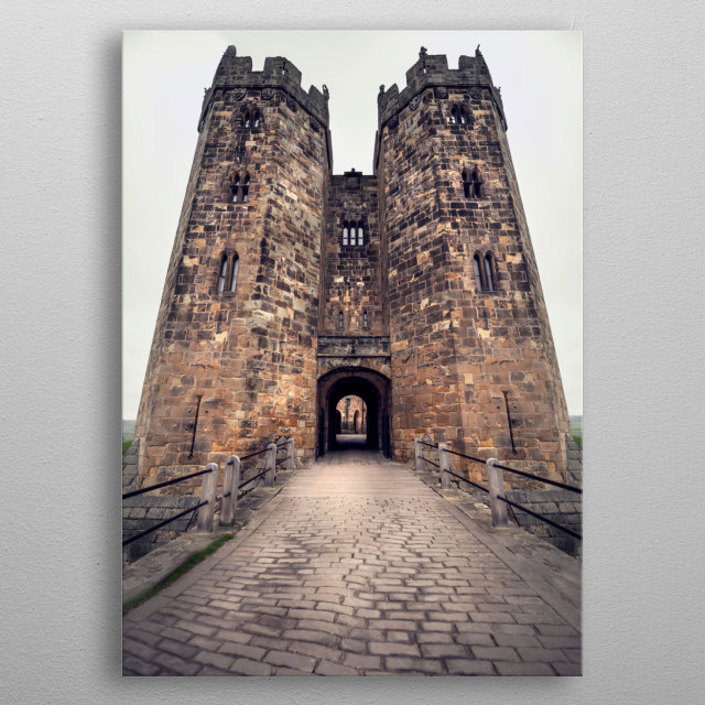 Alnwick Castle  is a castle and country house in Alnwick in the English county of Northumberland and is home to Harry Potter-inspired events metal poster