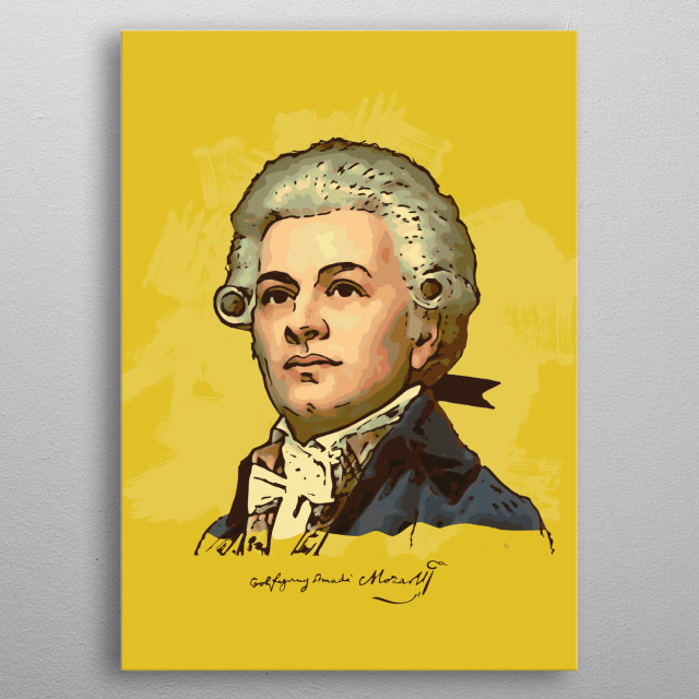 He composed more than 600 works, many acknowledged as pinnacles of symphonic, concertante, chamber, operatic, and choral music. metal poster