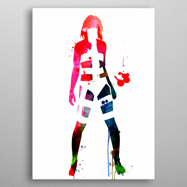 Watercolor painting celebrating one of our favorite movie character Leeloo. Please explore our fanart. metal poster