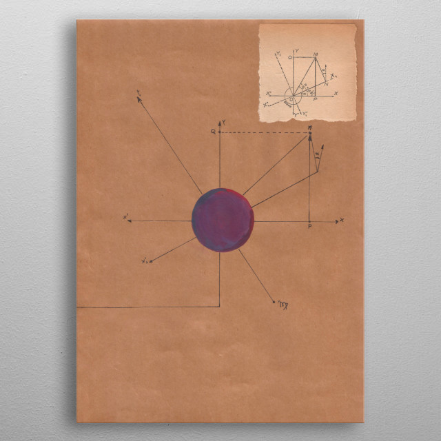 A mathematical collage combine with astrology. Planet of the virgin. metal poster