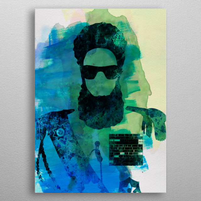 Watercolor painting celebrating one of our favorite movies The Dictator. Please explore our fanart. metal poster