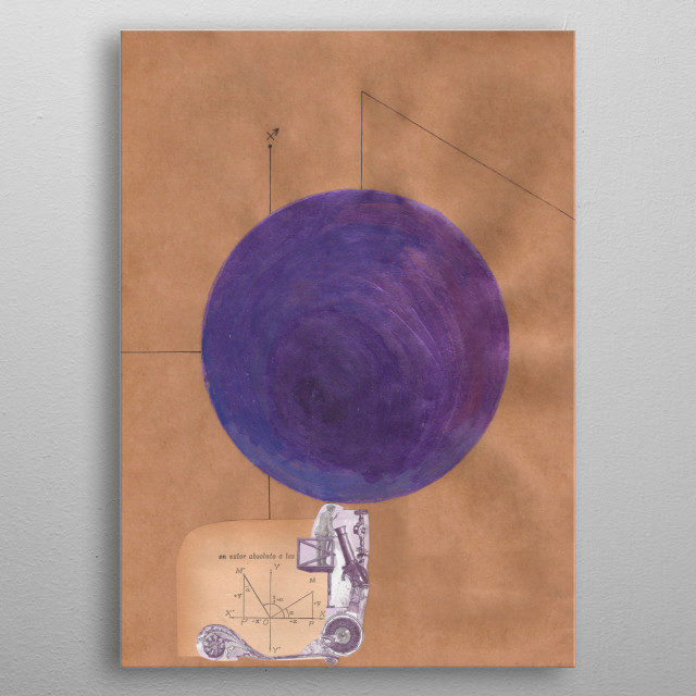 A mathematical collage combine with astrology.  Planet of the archer. metal poster
