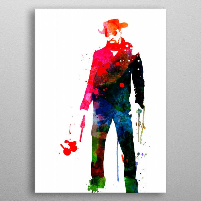 Watercolor painting celebrating one of our favorite movie character Django. Please explore our fanart. metal poster