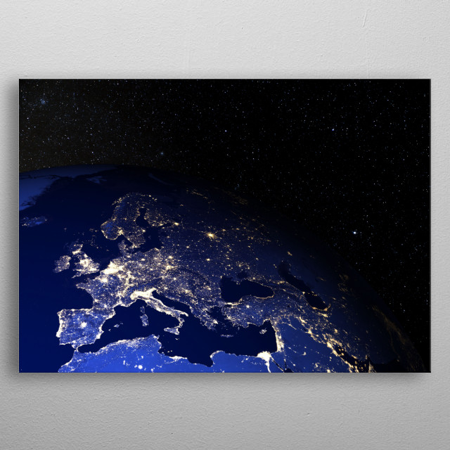 Created using elements furnished by NASA. metal poster