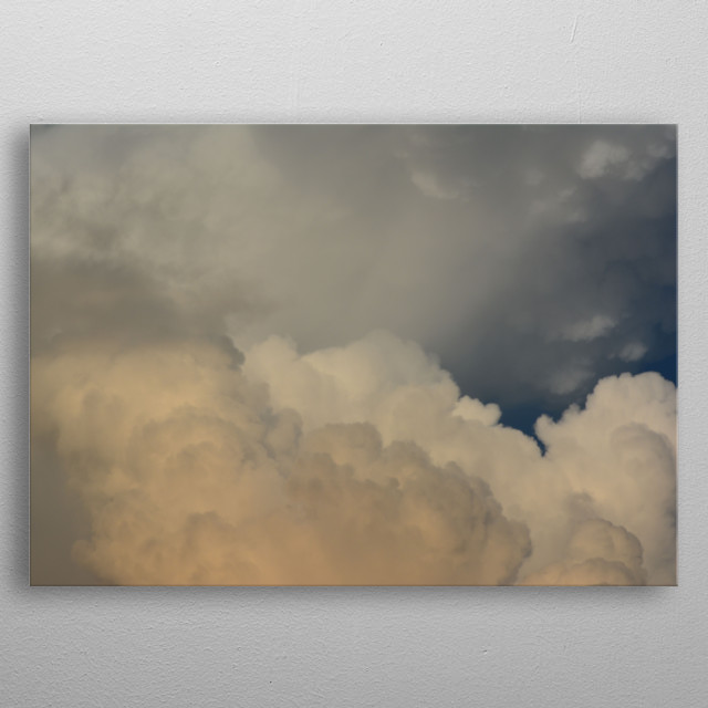 From the series Clouds metal poster
