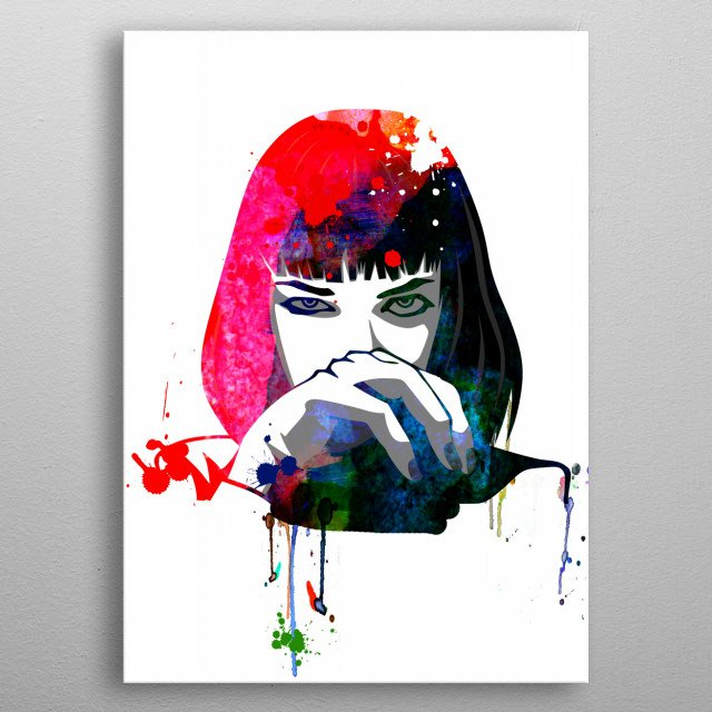 Watercolor painting celebrating one of our favorite movies Pulp Fiction. Please explore our fanart. metal poster