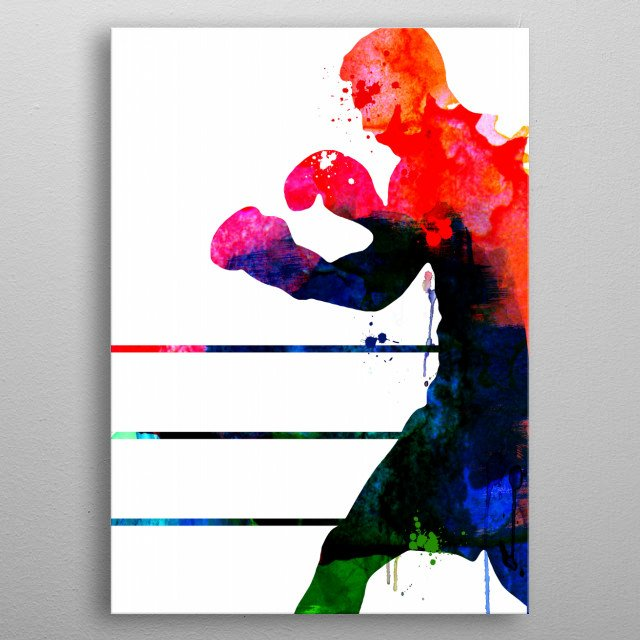 Watercolor painting celebrating one of our favorite movie character Raging Bull. Please explore our fanart. metal poster