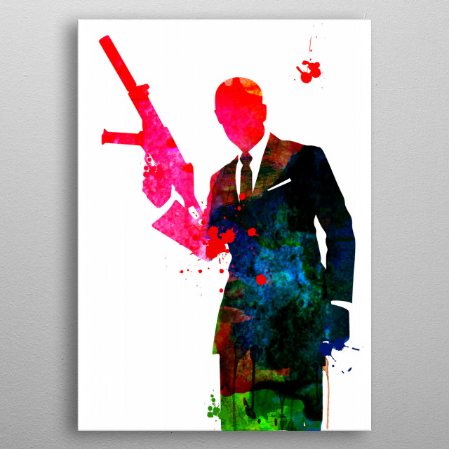 Watercolor painting celebrating one of our favorite movie character James Bond. Please explore our fan art collection of movies and characte metal poster