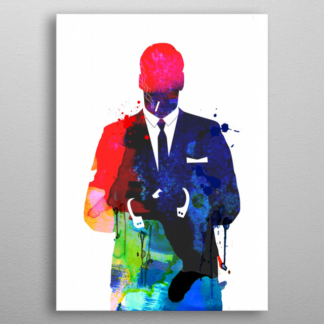 Watercolor painting celebrating our favorite character Don Draper. Please explore our fan art collection of movies and characters we love. metal poster