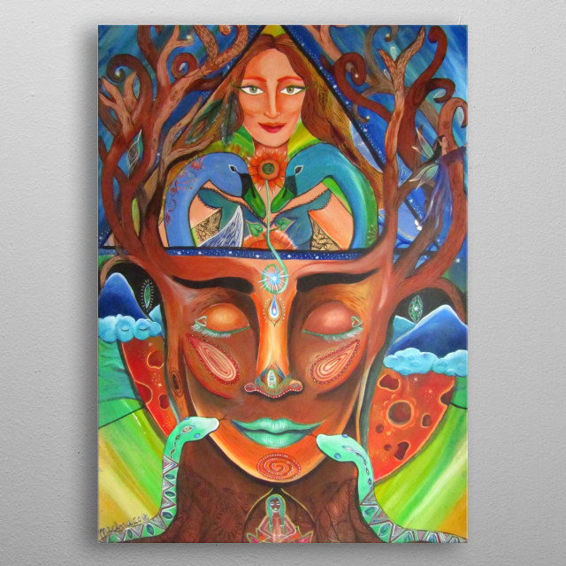 We are aligned Timelapses combined Creating fairytale Miracle craft Magic of two shining bright under the protection of seven starlight metal poster