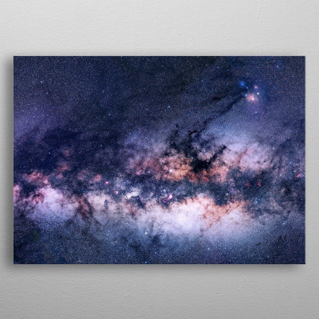 Bring the Universe into your home! This is real photo of the Milkyway galactic core, 27,000 light years away, show casing billions of stars! metal poster