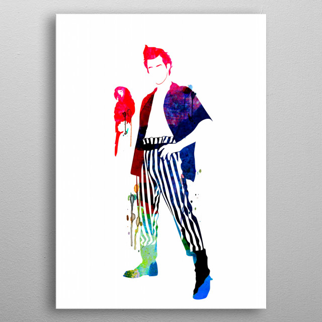 Watercolor painting celebrating one of our favorite movies Ace Ventura. Please explore our fanart. metal poster