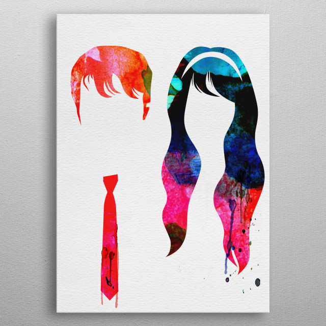 Watercolor painting celebrating one of our favorite movies 500 Days of Summer. Please explore our fanart. metal poster
