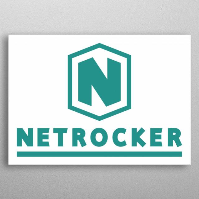 Logo von Netrocker. metal poster
