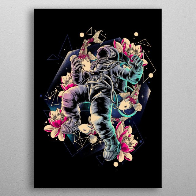 multiverse spaceman metal poster