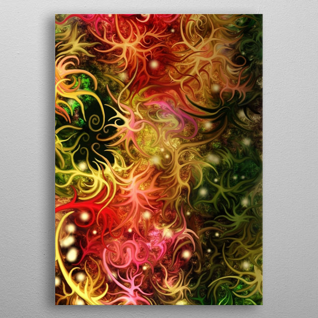 Festival of Cosmos is also a book cover. metal poster