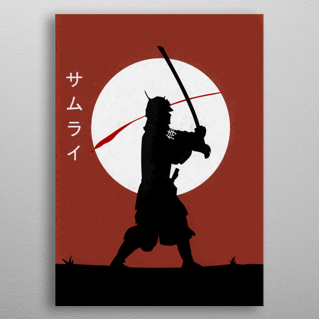 Isnpired by Japanese traditional warrior. metal poster