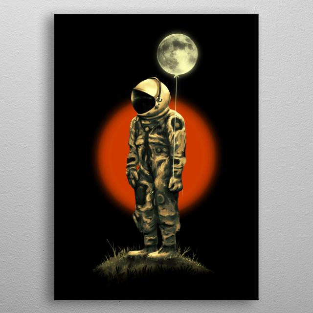 A lunar fanatic. metal poster