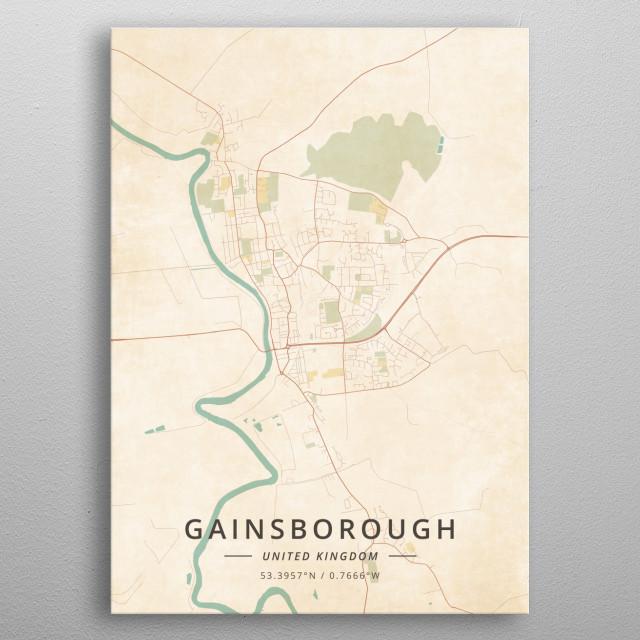 Gainsborough, UK metal poster