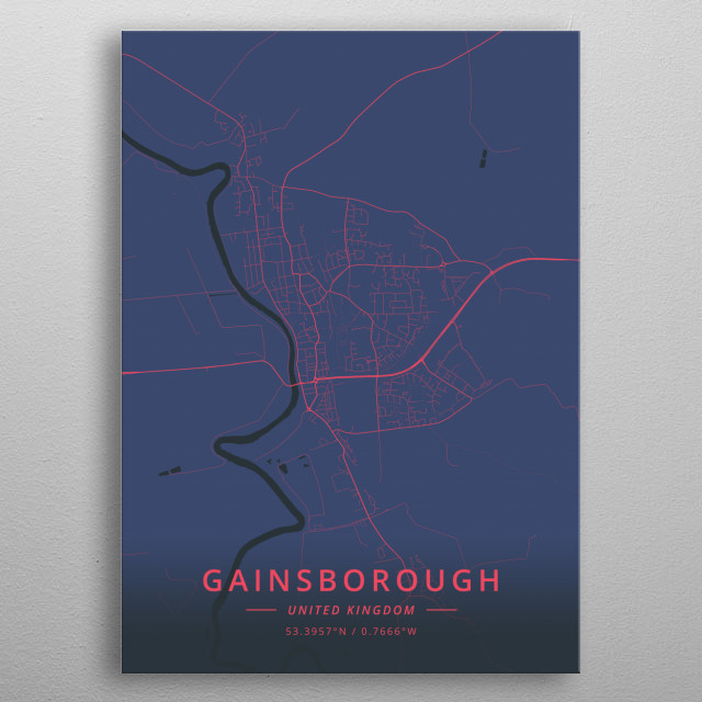 Gainsborough, UK metal poster